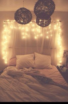 Christmas lights are super affordable and a big part of achieving that whimsical Tumblr bedroom vibe