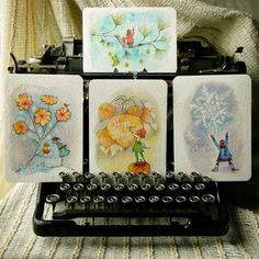 Whimsical Hand Painted Art Cards
