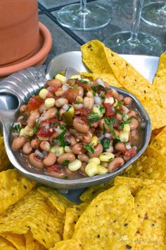A Southern Soul: Southern Caviar ~ Black Eyed Pea Appetizer _ I recently came up with a new way to serve this spicy, crunchy, flavor packed mixture | A Southern Soul