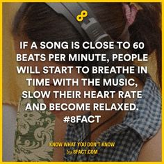 If a song is close to 60 beats per minute, people will start to breathe in time with the music.