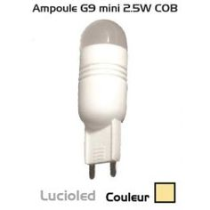 Ampoule G9 led 2.5W COB mini Blanc chaud