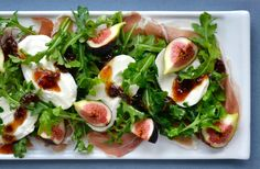 Make the most of fresh figs by pairing them with sliced prosciutto and creamy Burrata cheese for an anything-but-ordinary salad.