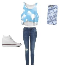 My head is up in the clouds by kyliesue22 on Polyvore featuring polyvore, fashion, style, Topshop and Converse
