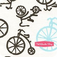 Michael Miller Baby Haze Bicycles Yardage SKU# CX4892-HAZE-D Michael Moore, Penny Farthing, Nursery Fabric, Unicycle, Michael Miller Fabric, Fat Quarter Shop, Fabrics, Quilts, Baby