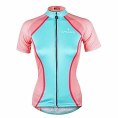 212f17c4f   19.99  ILPALADINO Women s Short Sleeve Cycling Jersey Fashion Bike Jersey  Top Quick Dry Ultraviolet Resistant Reflective Strips Sports 100% Polyester  ...