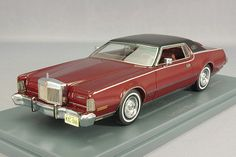 1 43 NEO Model LINCOLN Continental Town car Mark IV 1973 Red Metallic #.45566 #NEO #Lincoln