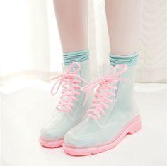 Pastel Rainboots