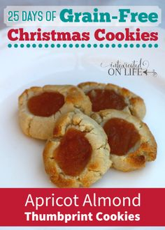 Delicious, melt-in-your-mouth apricot almond thumbprint cookies. Yum!