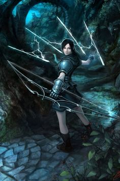 Not really sure what's happening in this image, but the bow looks cool so let's go with it. Ranger of Artimas by *Luches