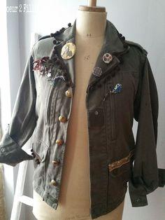 """Résultat de recherche d'images pour """"veste kaki customisée"""""""