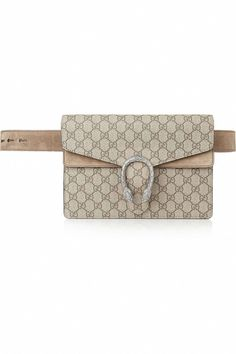 3da5ec139501 Gucci Dionysus Coated Canvas and Suede Belt Bag, $1,500; net-a-porter