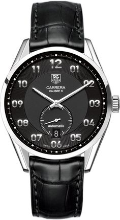 Tag Heuer WAR2110.FC6180 Watch Carrera Mens - Black Dial Steel Case Automatic Movement