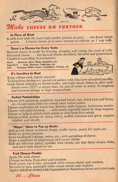 Make Cheese Go Further: 1943 Betty Crocker Your Share - Wartime Meal Planning