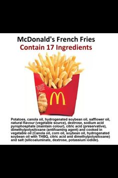 Think French fries are just potatoes and salt? Think again.