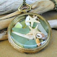Beach Attitude Sea Glass and Beach Treasures 14k Gold by newsprout