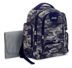 We've found this Jeep Camo Back Pack Diaper Bag at allthingsjeep.com for $45.99. #DiaperBagBlog