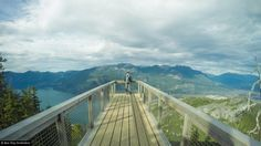 Sea to Sky Gondola Viewing Deck- Squamish. Only takes around 45min to an hour from Vancouver. There are several walks you can do on top, as well as cross the Sky Pilot Suspension Bridge, a 100m long crossing which treats you to a 360 degree view of the area. The Sea to Sky Gondola is right next to Shannon Falls National Park, where the falls are the third highest waterfall in British Columbia.