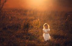 Children -  Field - Sunset - Beautiful Light