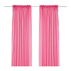 IKEA Vivan 3M Long Pink Sheer Curtains Perfect for Girls Bedroom Baby Nursery | eBay
