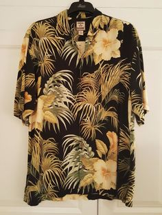 6d0411281d Mens Tommy Bahama 100 Silk Camp Hawaiian Floral Shirt Med M for sale online  | eBay