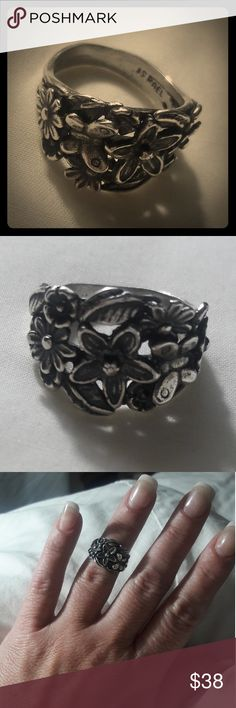Pz 925 Israel butterfly and flower ring Size 6.5 timeless and beautiful or paz Jewelry Rings
