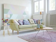 This is a pastel colored cotton candy living room heaven from Möbel Pfister (@moebelpfister). What do you think? I would move in in an instant. Thank you Marianne Kohler (@mariannekohler) for your help with the styling. Check out the whole spread on my website.  #spring #catalogue #shooting #moebelpfister #furniture #decoration #modern #style #flowers #Pastel #PastelColored #CottonCandy #heaven #collection #couch #vase #pillows #pillow #cushion #painting #carpet #InteriorDesign #design…