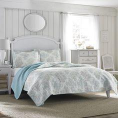 Laura Ashley Saltwater Blue Reversible 3-piece Cotton Quilt Set - Overstock™ Shopping - Great Deals on Laura Ashley Quilts. $99 from Overstock