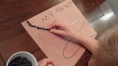 This activity is simple and repetitive.  Repetitive activities and crafts for kids can be very calming and organizing…when I did this with my kids, there was not a peep heard because they were focusing so hard on their work!  This would be great to add to your stash of preschool or kindergarten activities.  #finemotor #antfarm #grasp