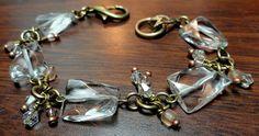 Quartz and Oxidized Brass Bracelet Kit by KCRlehrstudio on Etsy, $12.50