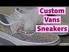 These Custom Vans Sneakers Feature Beautiful Sparkling SWAROVSKI Crystals! Bling Wedding Shoes, Wedding Sneakers, Bling Shoes, Custom Vans, Custom Sneakers, Custom Shoes, Vans Sneakers, Christmas Shoes, Holiday Shoes
