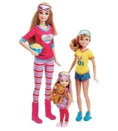 Barbie Pinktastic Sisters Slumber Party Play Set 3 Dolls for sale online Barbie Chelsea Doll, Barbie Dolls Diy, Barbie Fashionista Dolls, Doll Clothes Barbie, Barbie Doll House, Barbie Toys, Barbie Stuff, Barbie Sisters, Barbie Family