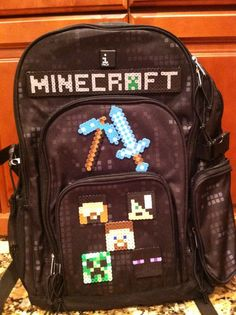 Minecraft Backpacks for School Minecraft Backpack, Minecraft Toys, Minecraft Party, Minecraft Stuff, Perler Beads, School Items, Kids Playing, Cool Kids, Shopping