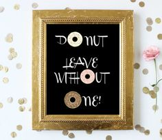 Donut Buffet Sign Printable Buffet Sign by MakeSpecially on Etsy