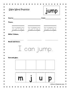 Sight Word Practice (Set 2) Sets 1 and 3 also available - 27 pages/words - $