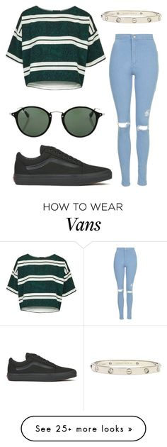 """#No name"" by eemaj on Polyvore featuring Topshop, Vans, Ray-Ban and Cartier"