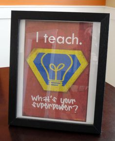Homemade gifts like art or classroom decorations are great gifts for teachers.
