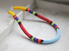 African Style Necklace Beaded Necklace by HeriniasJewelryChest, $45.00