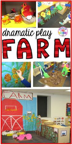 Farm in the Dramatic Play Center Tips, tricks, and ideas to change your dramatic play center into a FARM! Perfect for preschool, pre-k, and kindergarten classrooms. Dramatic Play Themes, Dramatic Play Area, Dramatic Play Centers, Farm Activities, Preschool Themes, Preschool Farm, Preschool Curriculum, Classroom Activities, Play Based Learning