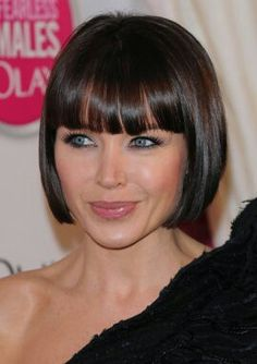 Precision cut Bob hairstyle. Dannii Minogue.