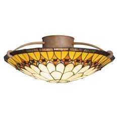 Kichler Lighting 69017 3 Light Indio SemiFlush Semi Flush Ceiling Light, Dore Bronze™ - Lighting Universe