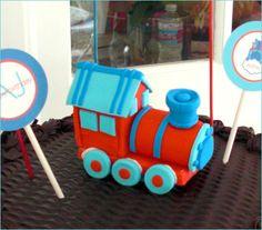cute train birthday! via hostessblog.com