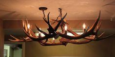 Mule deer antler chandelier by outbackantlerchandel on etsy 60000 items similar to candelabra elk antler chandelier on etsy aloadofball Gallery