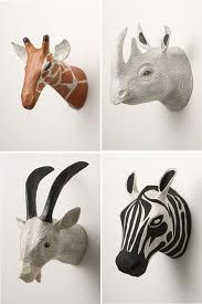 Ha ha Vicki, look what I found for Trevor!!  paper mache animal heads - Google Search