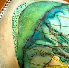 Watercolor & Ink Jellyfish  https://www.etsy.com/shop/ArtByLivie