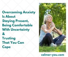 Overcoming anxiety is about staying present, being comfortable with uncertainty and trusting that you can cope.  Please 'like' and share x