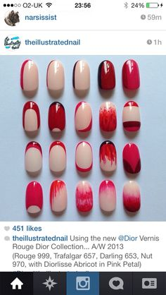 Nails with only 2 colours