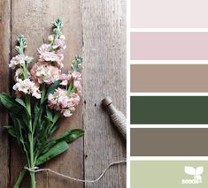 Welcome guests with this pretty palette! http://www.ginterparkpc.org/worship/weddings/