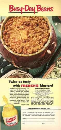 Chronically Vintage: 1950s Busy Day Baked Beans are terrific for the hecticness of September