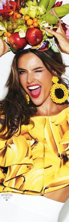 ~ Yellow Summer ~ Alessandra Ambrosio for Glamour| LOLO❤︎