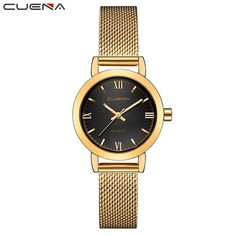 CUENA Luxury Women's Watches Women Quartz Watch Relojes Reloj Mujer Montre Femme Relogio Feminino Waterproof Ladies Clock 6624